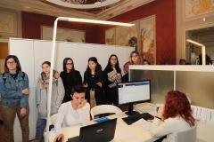 14 marzo 2019, la 4A del Liceo delle Scienze Umane in visita a Palazzo Vacchi Suzzi