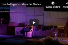 Lo spettacolo di Tiziana Di Masi in difesa del Made in Italy