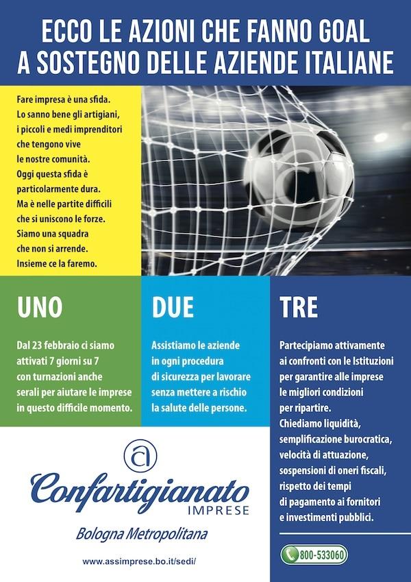 Manifesto Covid tre azioni goal Confartigianato Bologna