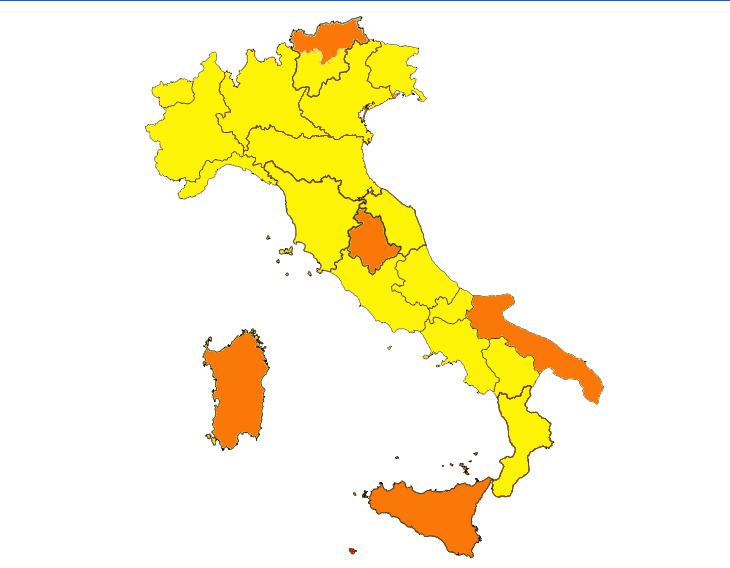 Coronavirus: dall'1 febbraio ritorna la zona gialla in Emilia Romagna