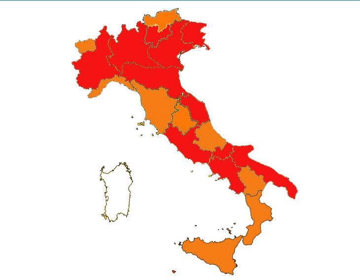 Coronavirus: Pasqua 2021 rossa in tutta Italia, cambiano i parametri per le zone